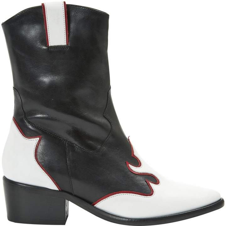 Maje Leather cowboy boots