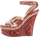 Alaia Python Platform Sandals