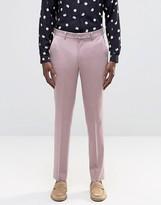 Asos Slim Suit Pants in Dusty Pink