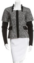 Philosophy di Alberta Ferretti Tweed Sequined-Accented Jacket