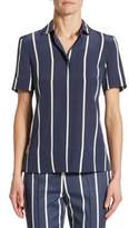 Akris Punto Silk Striped Blouse