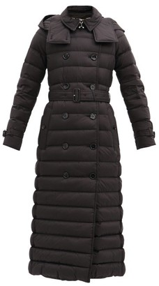 Burberry Arniston Long Double-breasted Quilted Coat - Black