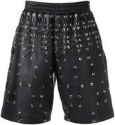Les Hommes lace detail shorts