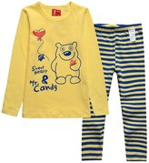 XiaoYouYu Big Boy's Cute Cartoon Stripes Winter Pajama Sets US Size 8