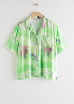 And other stories Tie Dye Button Up Shirt