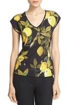 Ted Baker Women's 'Tiwana - Citrus Vine' Print Woven Front Top