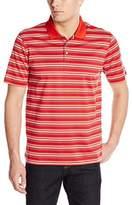 Cutter & Buck Men's Short Sleeve Oasis Mercerized Stripe Polo