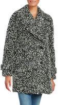 Diane von Furstenberg Chelsea Button Front Tweed Coat