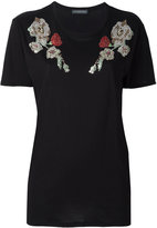Alexander McQueen embroidered T-shirt - women - Cotton - 38
