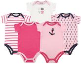 Luvable Friends Pink Nautical Bodysuit Set - Infant