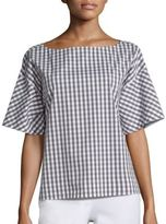 Lafayette 148 New York Zuri Hampton Check Blouse