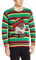 Blizzard Bay Men's One Love Rasta Ugly Christmas Sweater