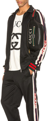 Gucci Technical Jersey Jacket in Black & Ivory & Live Red | FWRD