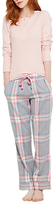Joules Snooze Check Pyjama Bottoms, Grey/Multi