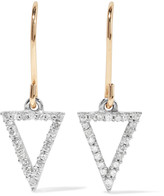 Adina 14-karat gold, Sterling silver and diamond earrings