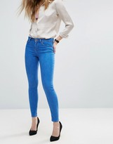 Asos Lisbon Skinny Midrise Jeans in Bluebell Bright Flat Blue