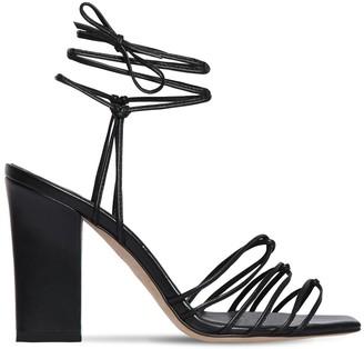 AEYDĒ 95mm Daisy Leather Sandals