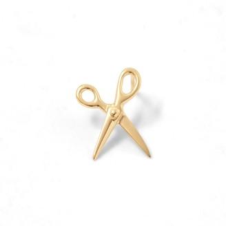 Scissor Earring 14K Yellow Gold - Right Ear