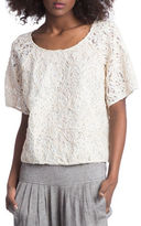 Plenty by Tracy Reese Short Sleeve Lace Top