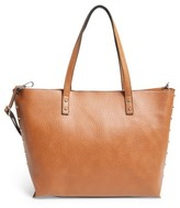 Linea Pelle Faux Leather Tote - Brown