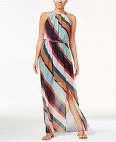 BCX Juniors' Belted Illusion Maxi Dress