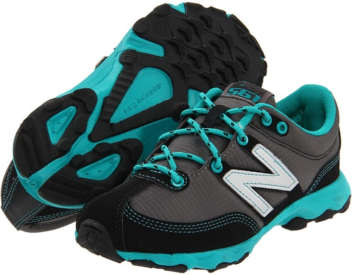 New Balance KT561 (Toddler/Youth) (Grey/Turquoise) - Footwear