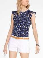 Michael Kors Floral Ruffled Blouse