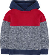 Mayoral Wool blend sweater with a hood