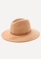 Bebe Faux Leather Band Fedora