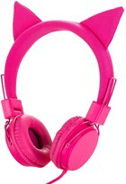 Cat Ear Headphones for Kids, Einskey Cosplay Fancy Cute Headphones Foldable Over-Ear Gaming Headset for Children (Pink)