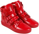 Radii Straight Jacket Mens Red Patent Leather High Top Sneakers Shoes 9.5