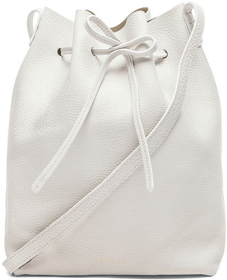 Mansur Gavriel Tumble Large Bucket Bag in White | FWRD