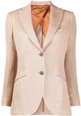 Maurizio Miri Textured Single Breasted Blazer
