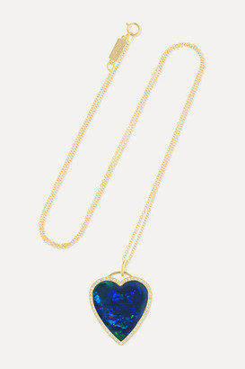 Jennifer Meyer Heart 18-karat Gold, Opal And Diamond Necklace - one size