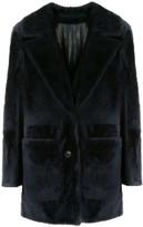 Yves Salomon Notched-Lapel Single Breasted Coat