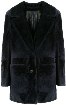 Yves Salomon Notched-Lapel Single Breasted Coat