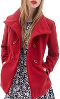 Summerwhisper Women's Casual Double Breasted Wool Coat Jacket