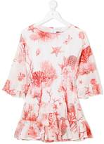 Roberto Cavalli coral print dress
