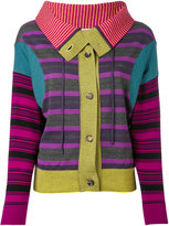 Loewe striped patchwork cardigan - women - Cotton/Polyamide/Wool - XS
