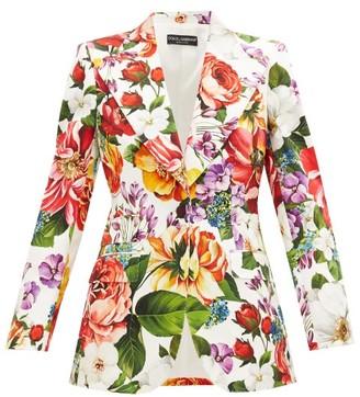 Dolce & Gabbana Single-breasted Floral-print Cotton-blend Jacket - Multi