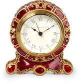 Jay Strongwater Bryce Crystal Scroll Clock
