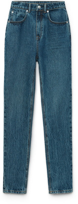Denim High Waist Slim Jean
