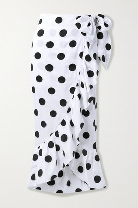 Mara Hoffman Net Sustain Eaven Polka-dot Organic Cotton Wrap Skirt - White