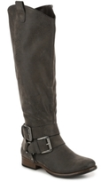 Crown Vintage Buckles Wide Calf Riding Boot