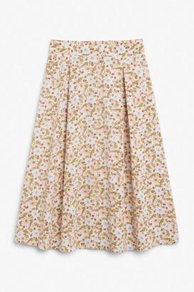 Monki Button-up midi skirt