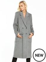 Warehouse Silk Mix Longline Coat