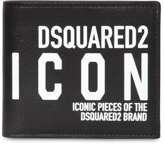 DSQUARED2 NEW ICON PRINT LEATHER BILLFOLD WALLET