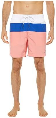 Nautica Color Block Swim Trunk (Red 1) Men's Swimwear