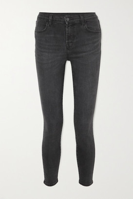 J Brand Alana Cropped High-rise Skinny Jeans - Gray