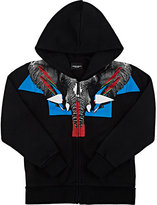 Marcelo Burlon County of Milan Elephant-Graphic Cotton-Blend Hoodie-BLACK